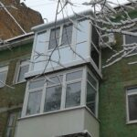 Французский балкон . Стеклопакет серебро рефлектор